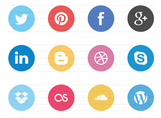 FREE Flat Social Icons EPS on Behance