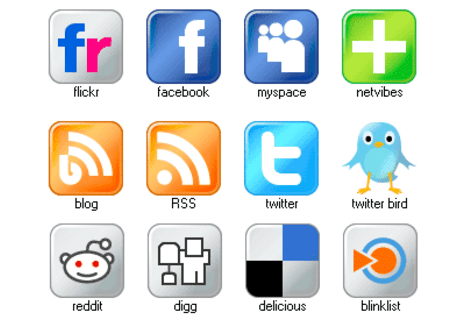 Free Set of Social Media Icons