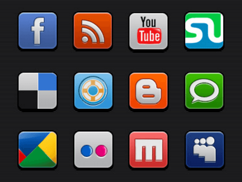 Free Social Media Icons Includes PSDs