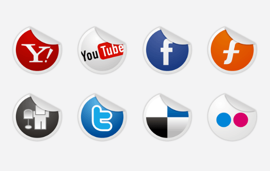 Socialize Icons Set social