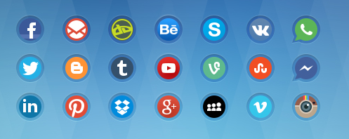 cool social media icons