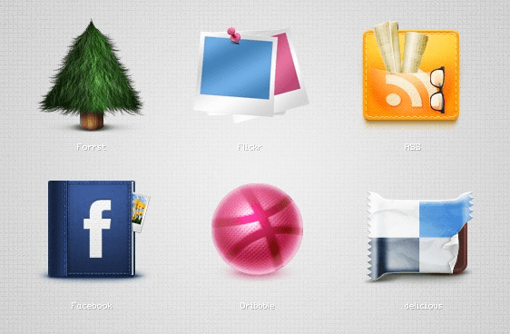 detailed social media icons
