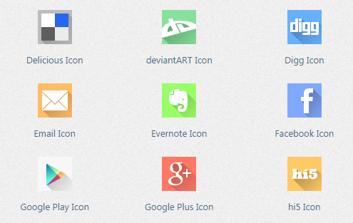 flat shadow icons